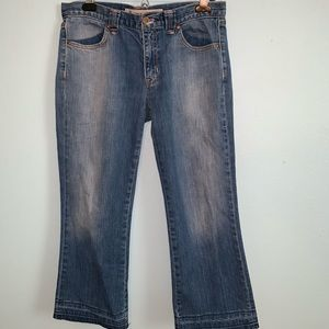 Gap Low Rise Cropped Stretchy Blue Jeans